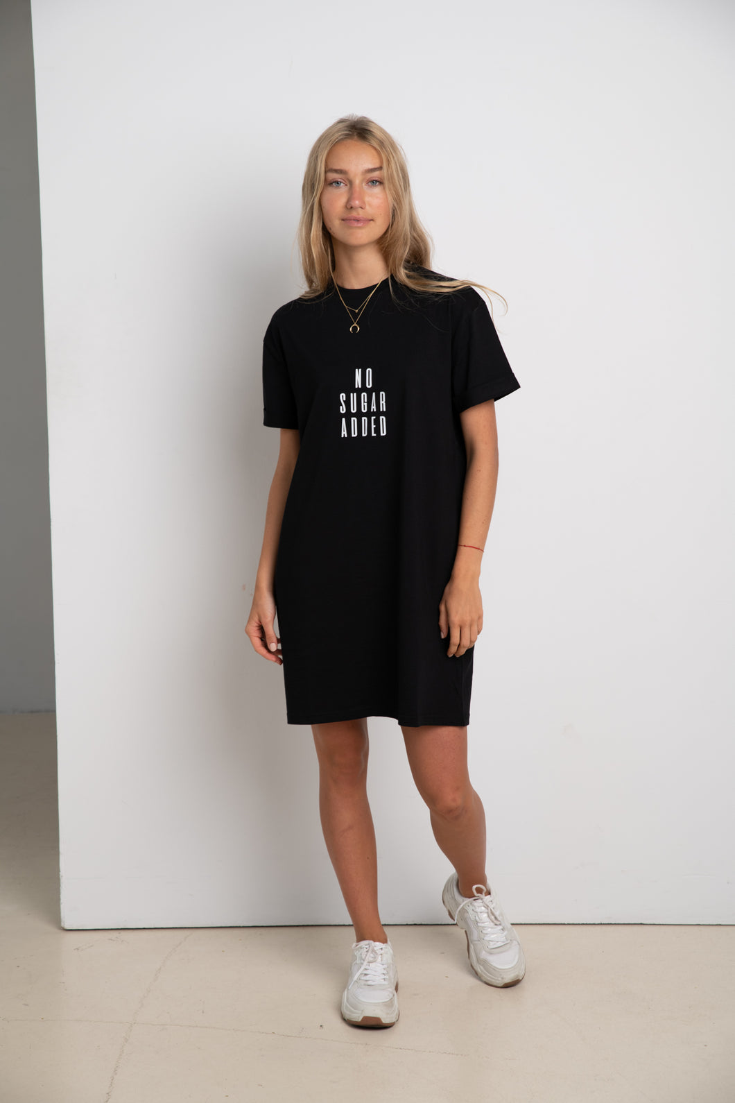 NO SUGAR ADDED #ECOFRIENDLY dress in black