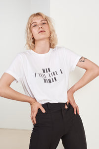 MAN I FEEL LIKE A WOMAN White T-shirt