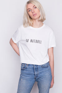 AU NATUREL White T-shirt