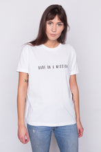 Load image into Gallery viewer, BABE ON A MISSION White T-shirt