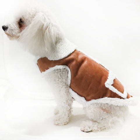 2110 Daisy & Lucy Faux Shearling Dog Coat