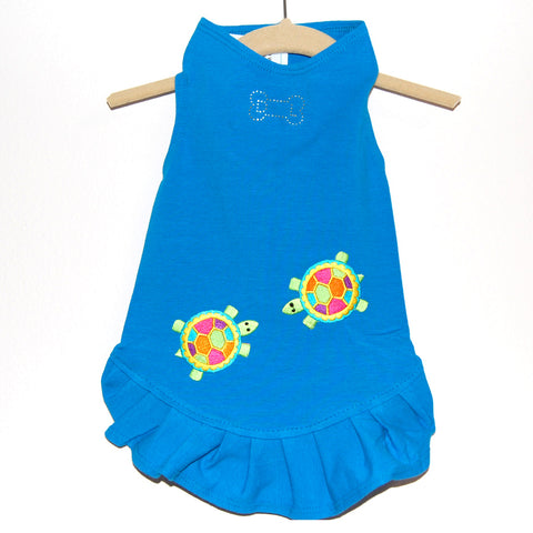 302D Daisy & Lucy Talking Turtles Flounce Dress