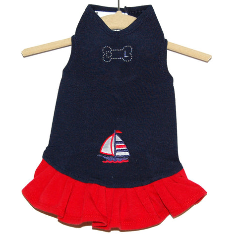 305D Daisy & Lucy Anchors Away Flounce Dress - Little Boat