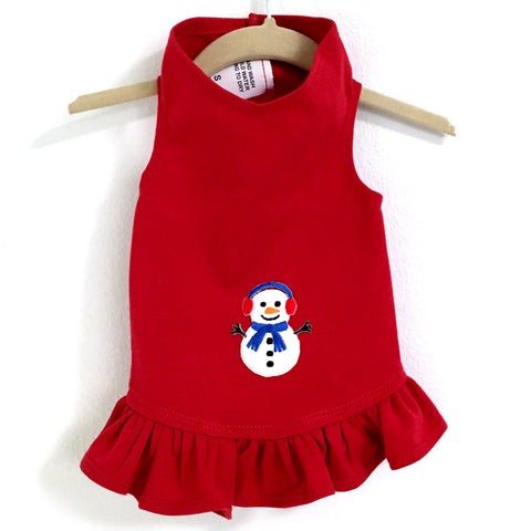 321D Daisy & Lucy Snowman Flounce Dress