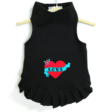345D Red Love Heart Dress on Black