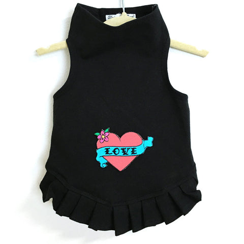 346D Pink Love Heart Dress on Black