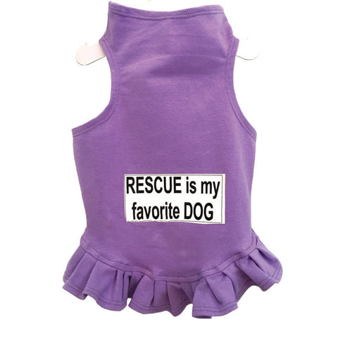 367D Daisy & Lucy Rescue is My Favorite Dog Flounce Dress