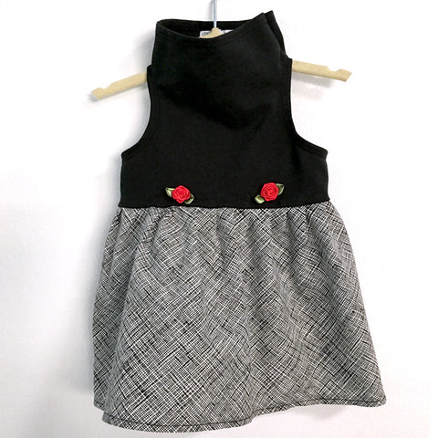 407 Daisy & Lucy Black Top With Scribble Dress