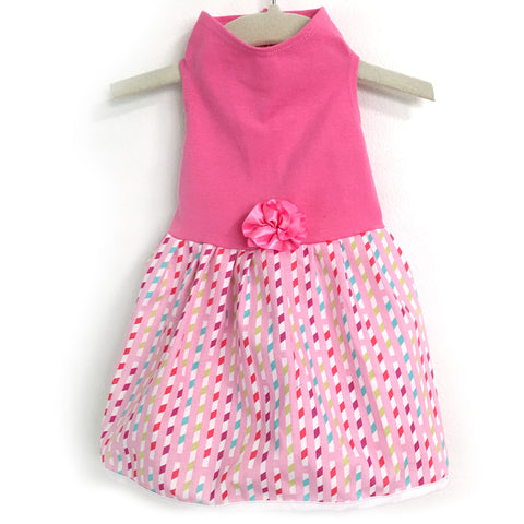416 Daisy & Lucy Pink Top with Spring Ribbon Dress