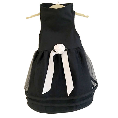 428D Black Tulle Dress
