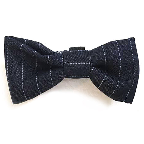 615 Barley's Denim Stripe Dog Bow Tie