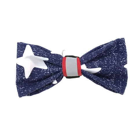 641 Barley's Reflective Star Spangled Dog Bow Tie
