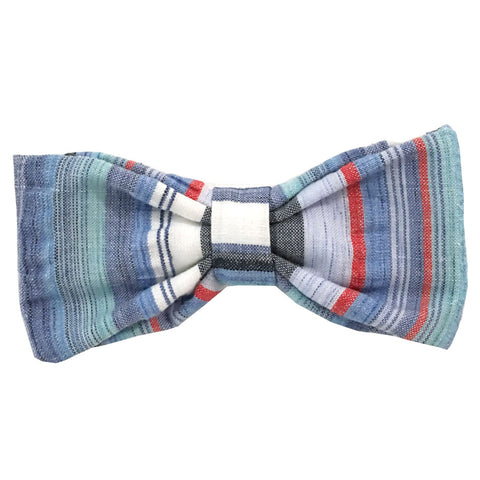 652 Barley's Multi Cotton Seersucker Dog Bow Tie