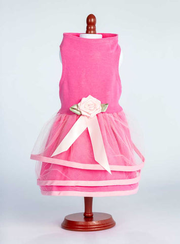 The Perfect Pink Pup- three rows of tulle- over an attached Jersey skirt