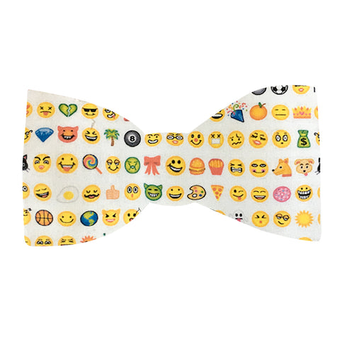 645 Barley's Emoji Pattern Dog Bow Tie