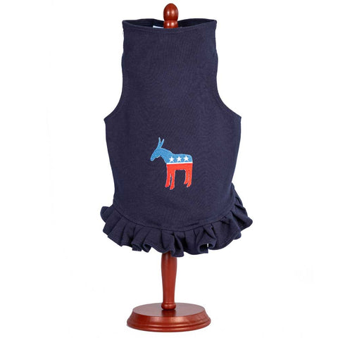 311D Daisy & Lucy Democrat Dog Dress
