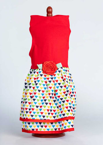 429D Colorful Triangles Double Skirt