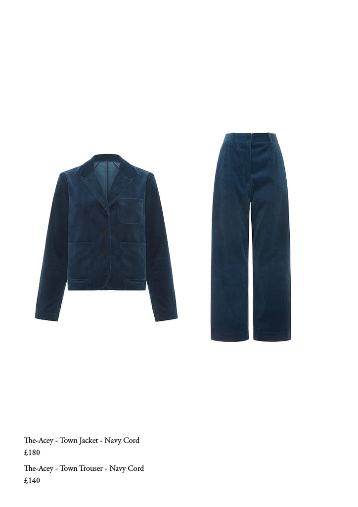 The Acey navy trouser suit