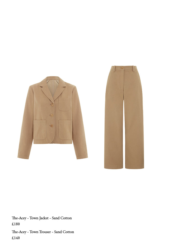 The acey sand trouser suit