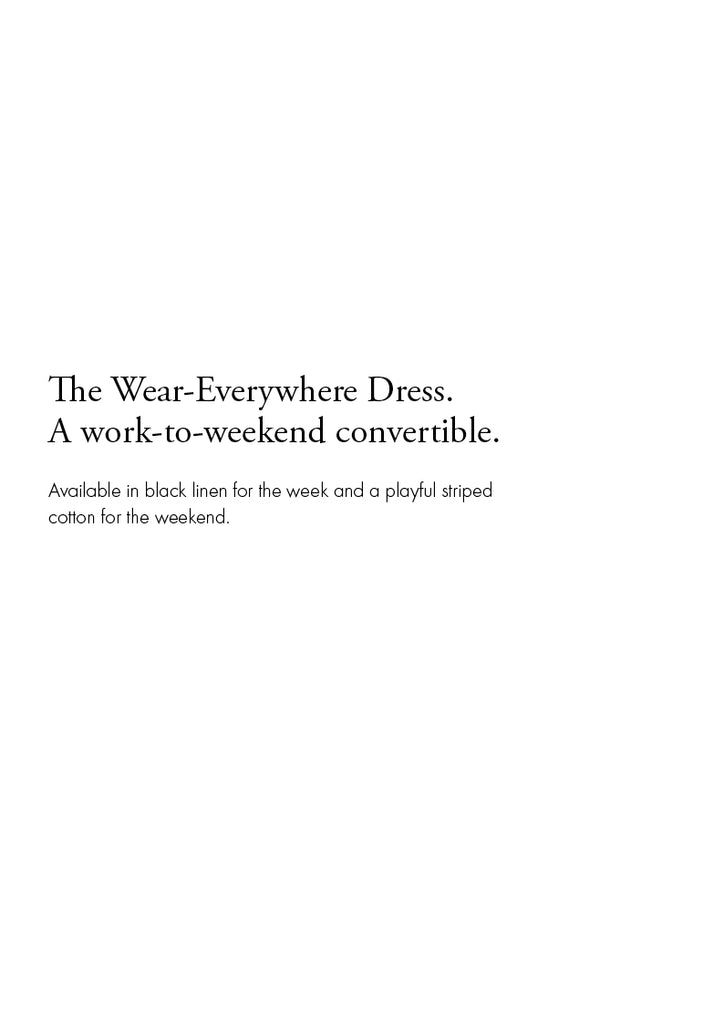 the acey wear everywhere black linen dress