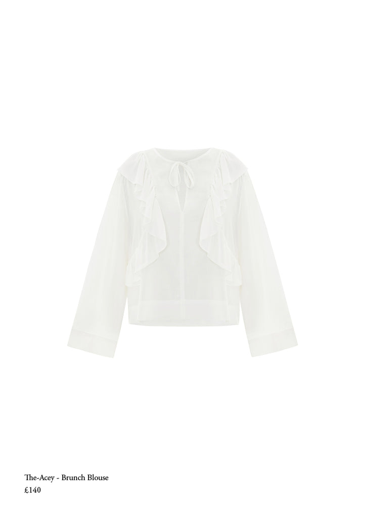 The acey brunch blouse frill top