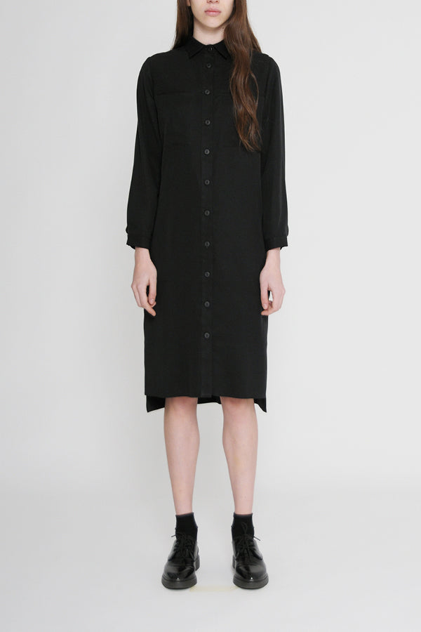 carina shirt dress in black