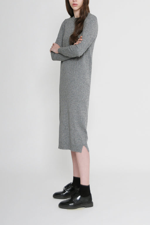 leo grey knit dress