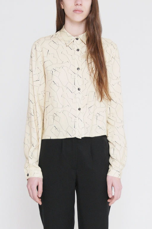 tucana printed cropped shirt