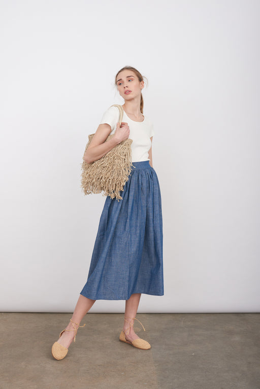 Jelocia light denim skirt