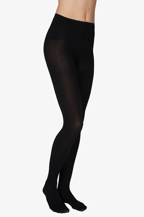 lia black 100 denier tights recycled yarn