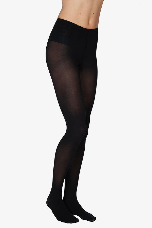 olivia black 60 denier recycled yarn tights