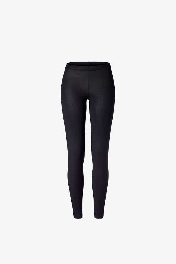 Black modal leggings