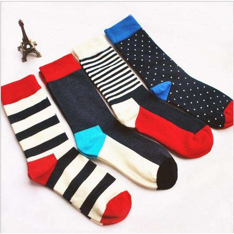 Colorful Stripes And Dots Stylish Casual Crews
