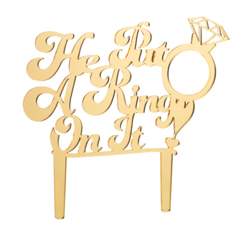 Engaged Acrylic Cake Topper
