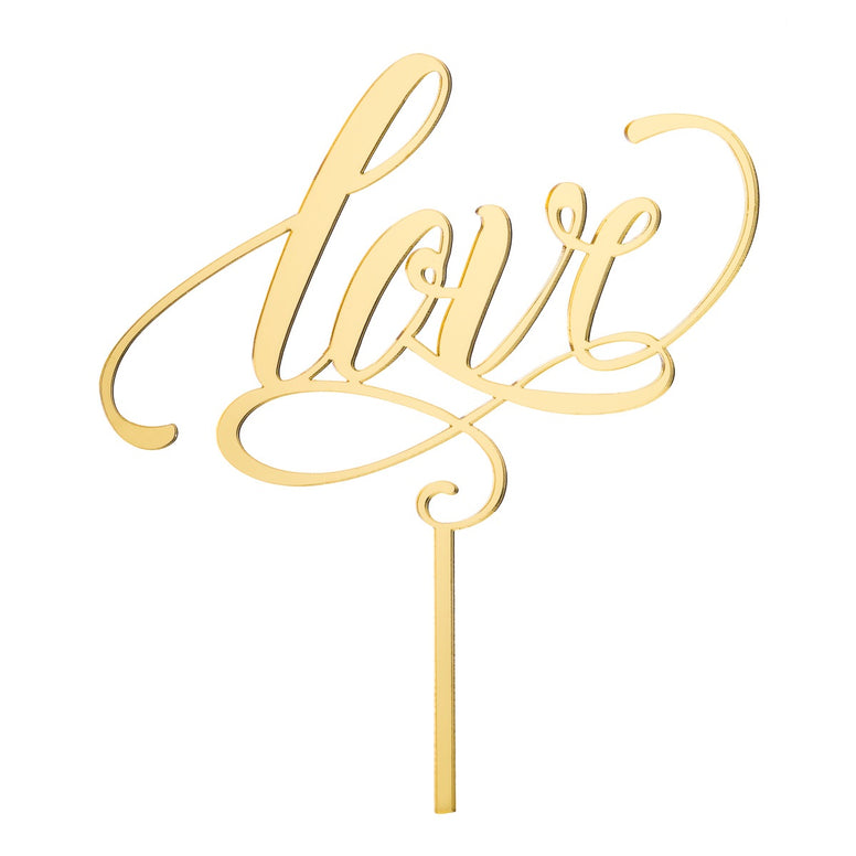 Love Acrylic Cake Topper