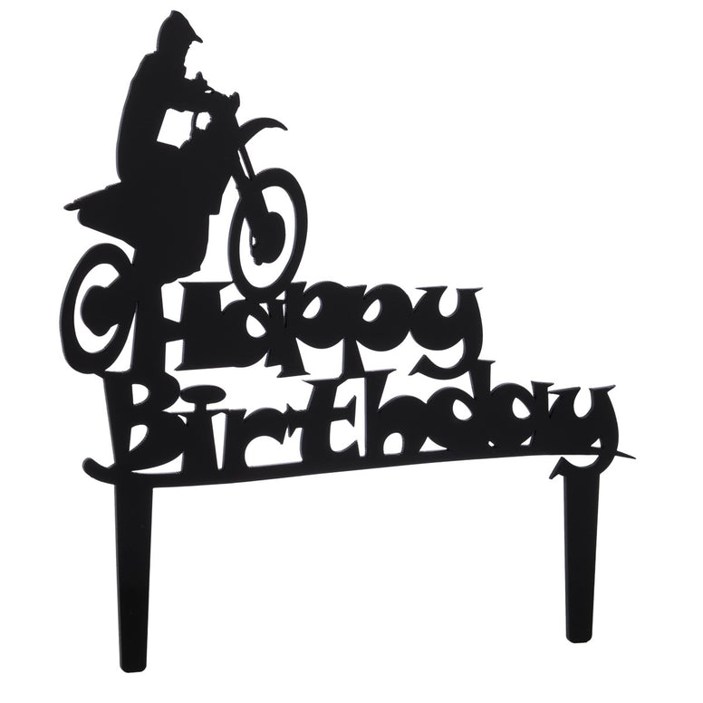 Happy Birthday Dirt Bike Cake Topper
