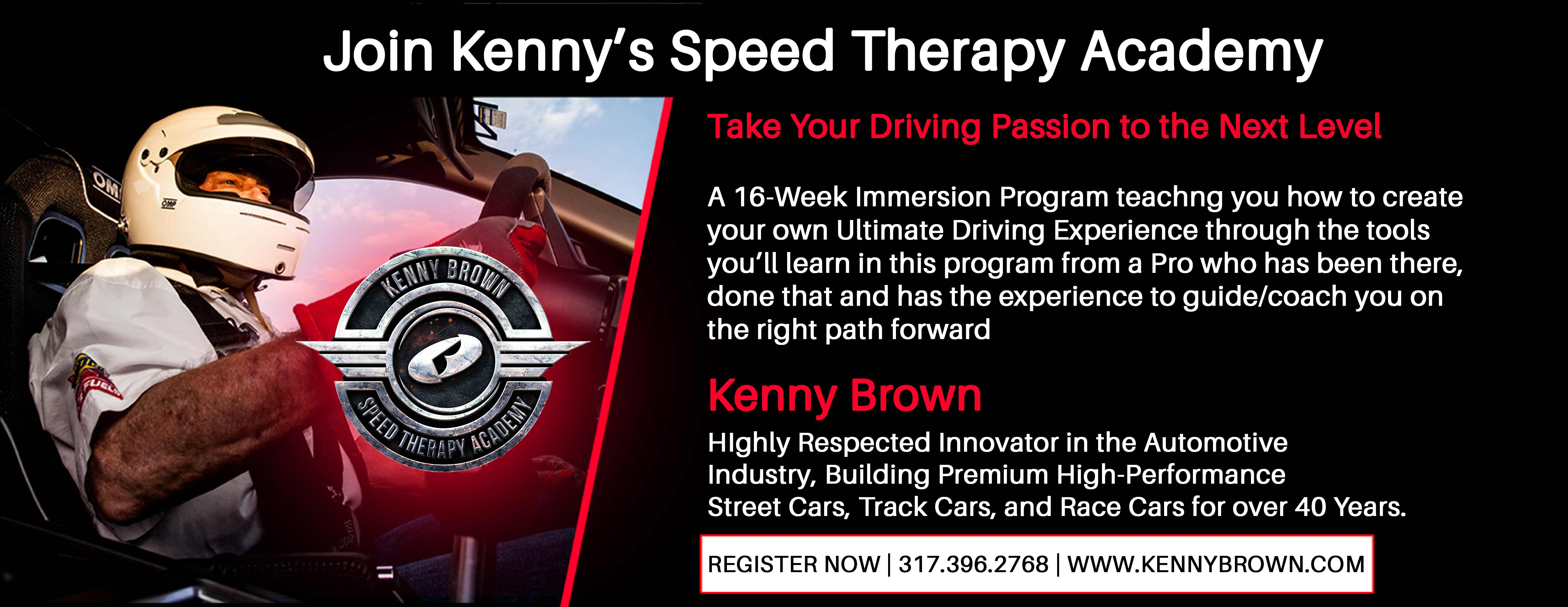 Kenny Brown Speed Therapy Academy