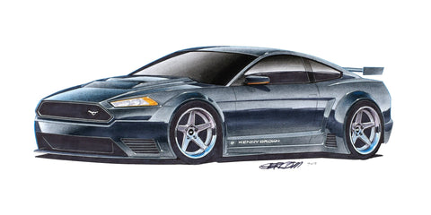 Art Print - 2015 Kenny Brown Ford Mustang GT3 Concept  by Artist Jim Gerdom