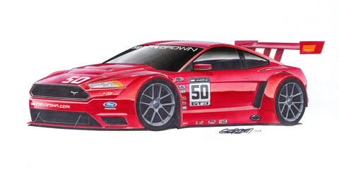 Art Print - 2015 Kenny Brown Ford Mustang GT3R Concept by Artist Jim Gerdom