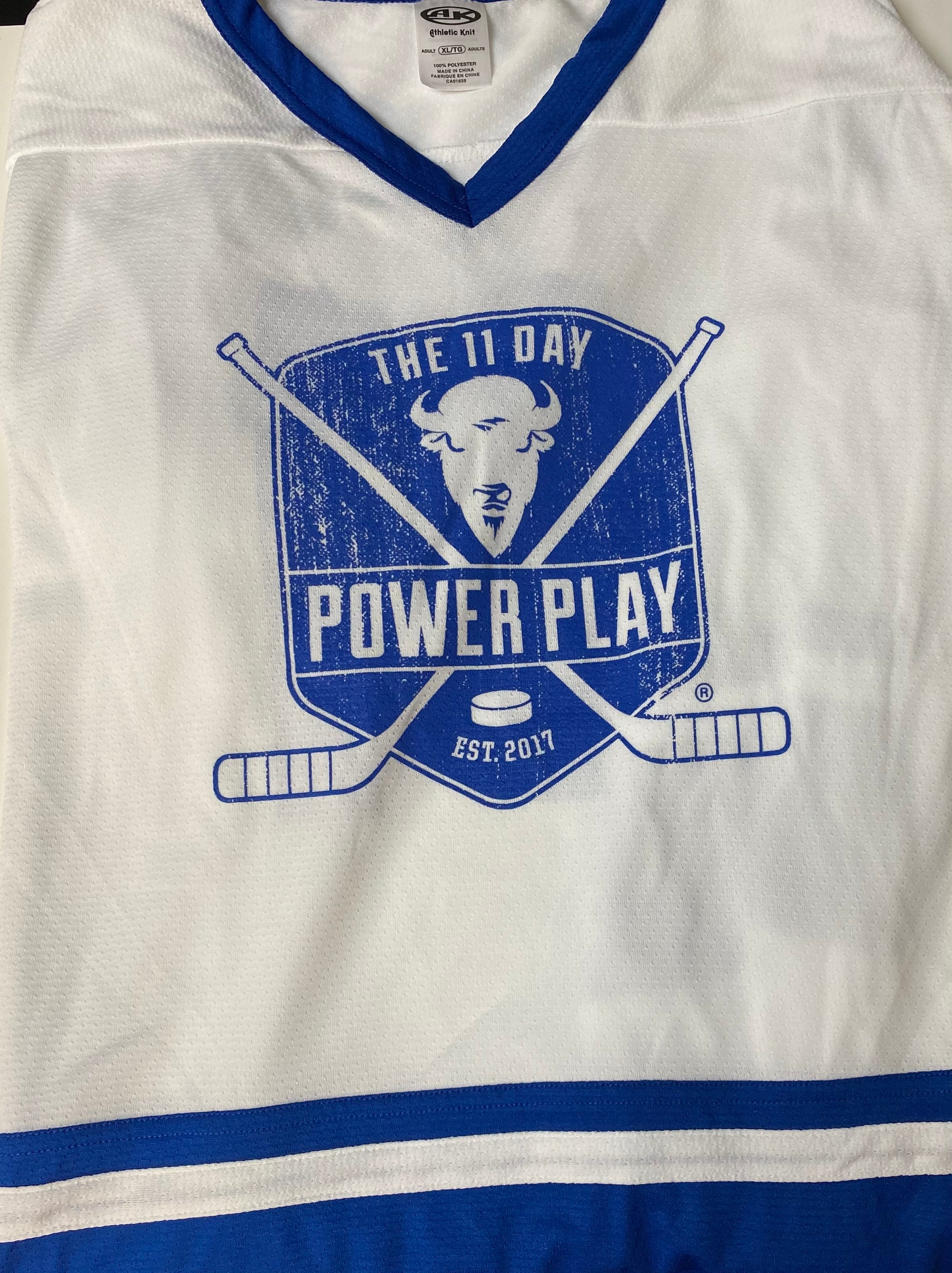 White/ Royal Blue Jersey (Colon Cancer)
