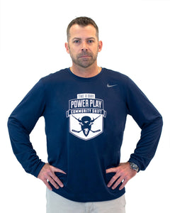 Men's Puck Cancer Nike Long Sleeve Crew Shirt