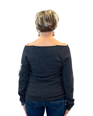 Women's Off-the-Shoulder Sweatshirt