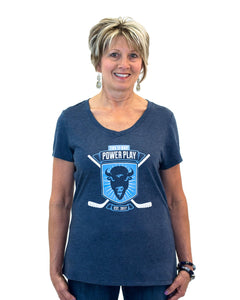 Women's 2018 V-neck T-shirt (Blue)