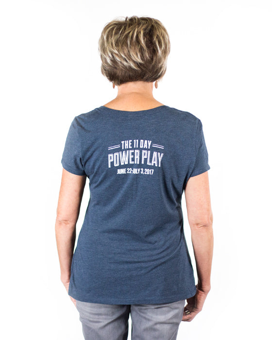 Women's 2017 Navy Frost Perfect Tri-Crew V-Neck Tee