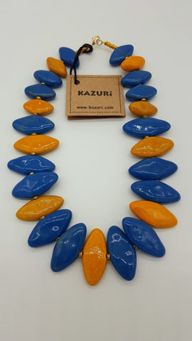 Kazuri Beads Necklace Domino 18 inches Parrot