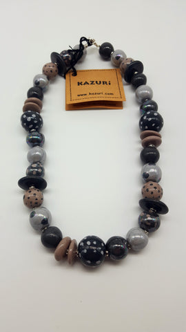 Kazuri Beads Necklace Memory M.O.P. Pattern 22 inches Rand