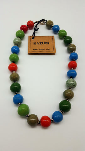 Kazuri Beads Necklace Kanga 18 inches Upinde
