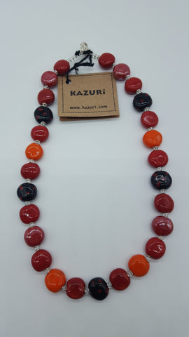 Kazuri Beads Necklace Tombola M.O.P 18 inch Upinde