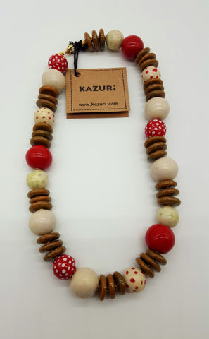 Kazuri Necklace Khadija 18 inchs Woodpecker