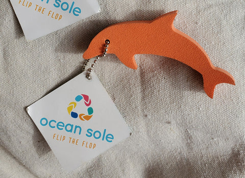Ocean Sole Dolphin Key Chain